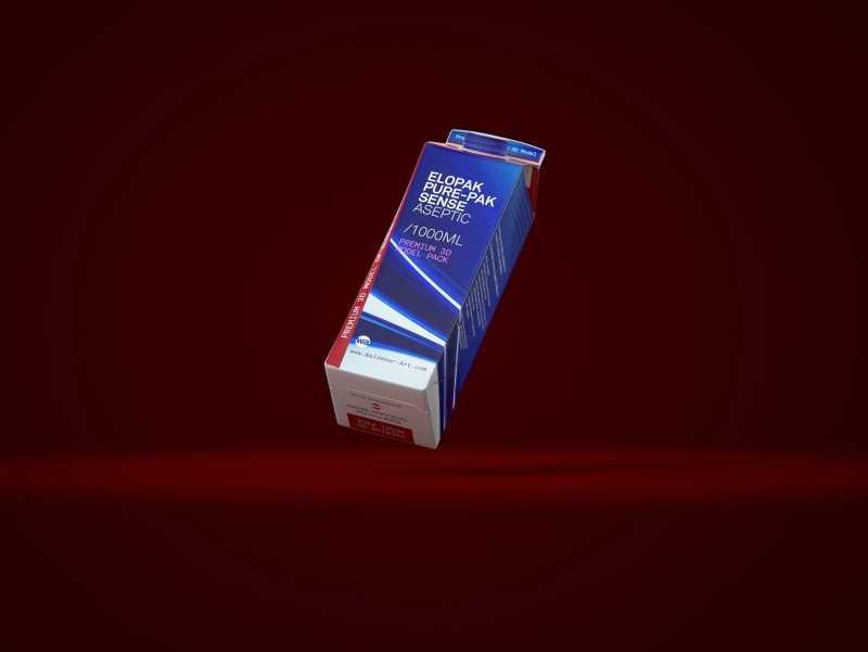 Elopak Pure-Pak Sense Aseptic 1000ml Carton packaging 3D model