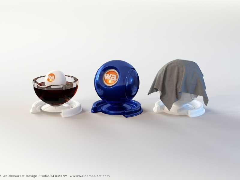 Free Shader Ball Set (For liquids, cloth and hard surfaces)