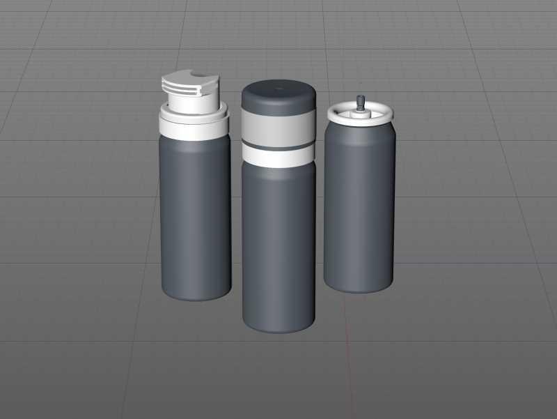 Shaving Foam Metal Bottle 50ml Packaging 3D model