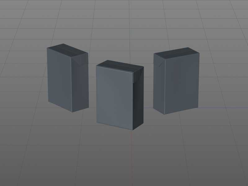 Tetra Pack Recart 440ml Premium carton packaging 3D model pak