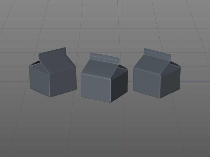Tetra REX 250ml Professional carton packaging 3D model pak
