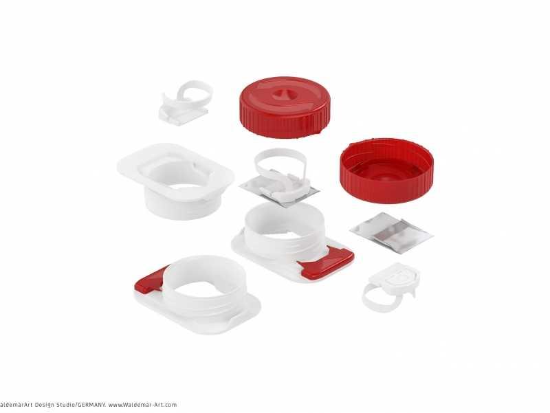 Tetra Pack Brick Slim 2000ml Premium packaging 3D model pak with SlimCap closure