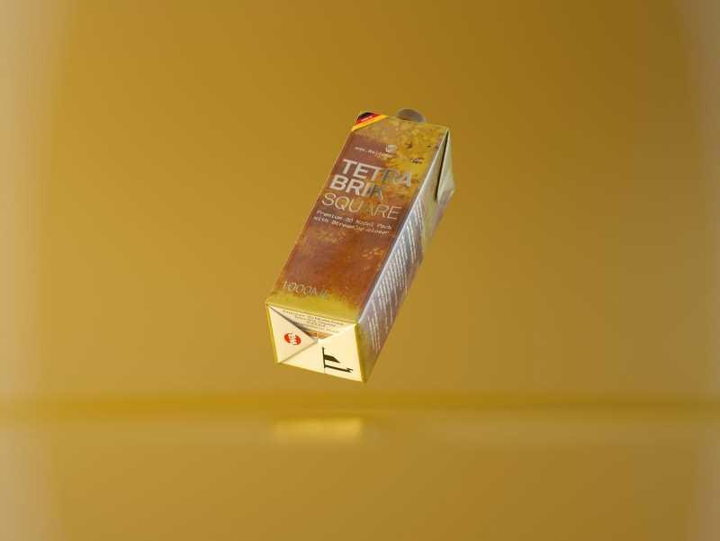Tetra Pack Brick Square 1000ml with StreamCap Premium Packaging 3d model pak