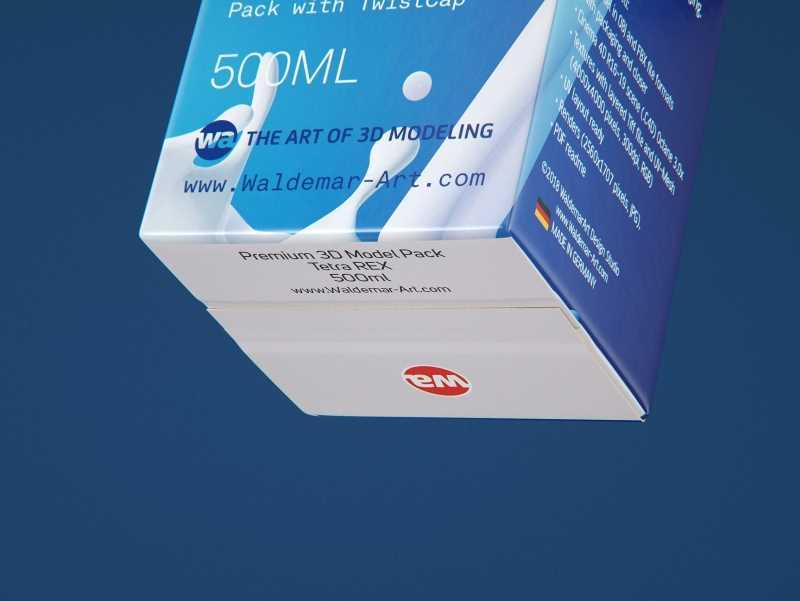 Tetra Rex 500ml carton packaging 3d model with TwistCap