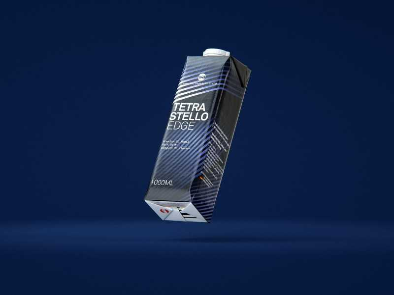 Tetra Pack Stello EDGE 1000ml with WingCap 30 packaging 3D model