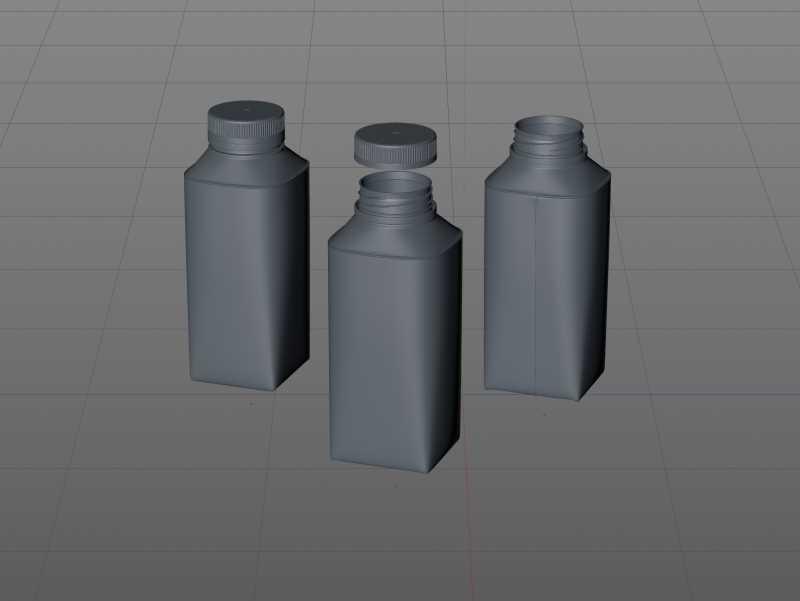 Packaging 3D model pak of Tetra Pack Top Midi 330ml with Eifel-O38