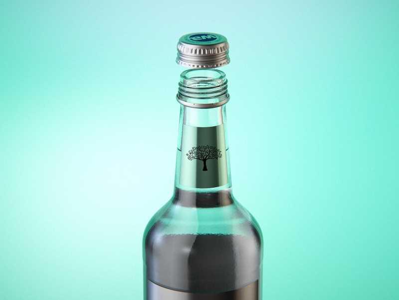 Tonic water glass bottle packaging 3D model pack 500ml