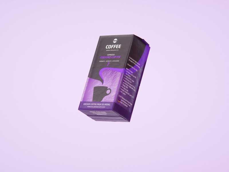 Vacuum Ground Coffee Packaging 500g 3d model