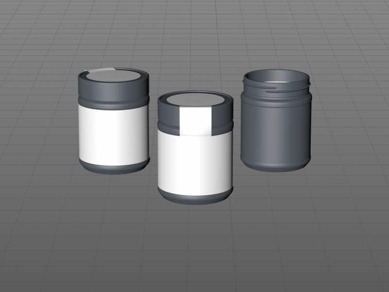 Acacia Honey Glass Jar 500g packaging 3d model