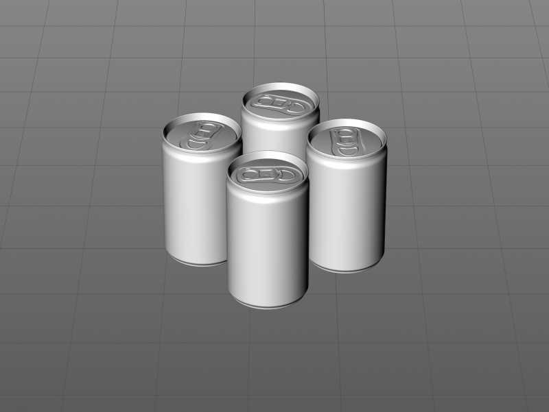Ball/Rexam Soda Metal Can 150ml Premium 3D model pack
