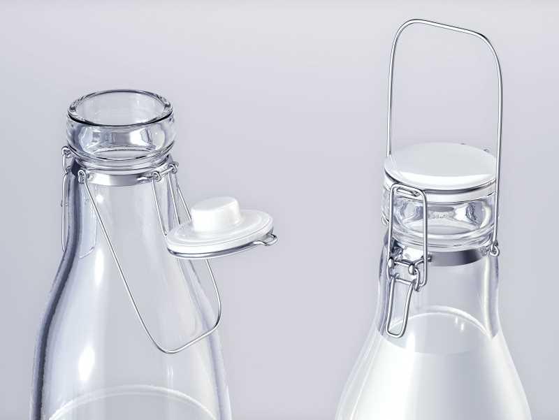 Milky-Wilky - packaging 3d model of a bottle for a milk