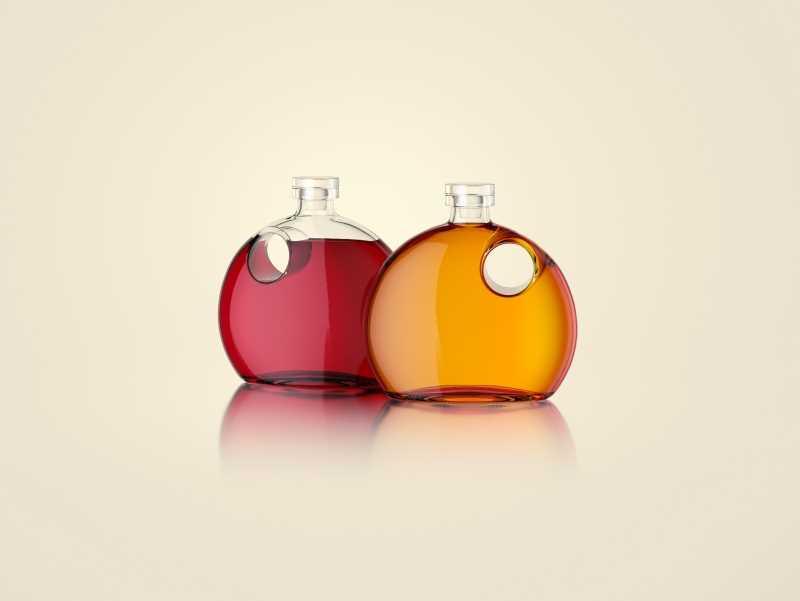 Nancy - packaging 3d model of the bottle for oils, vinegar or wine