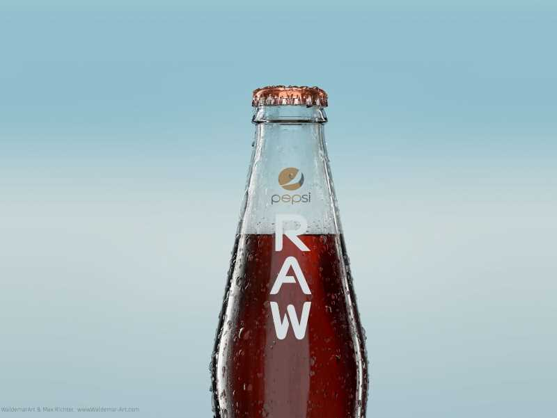 PEPSI RAW - Professional packaging 3D model and scene (Vray