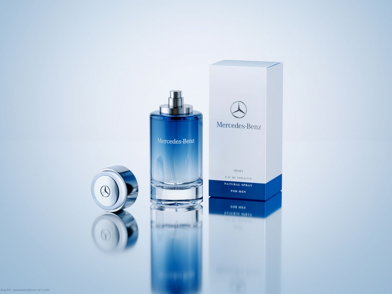 Mercedes benz sport perfume packaging 3d visualization for Perfume mercedes benz