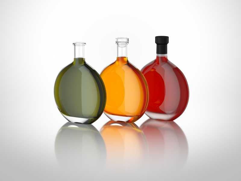 Solar - packaging 3d model of the glass bottle for various products