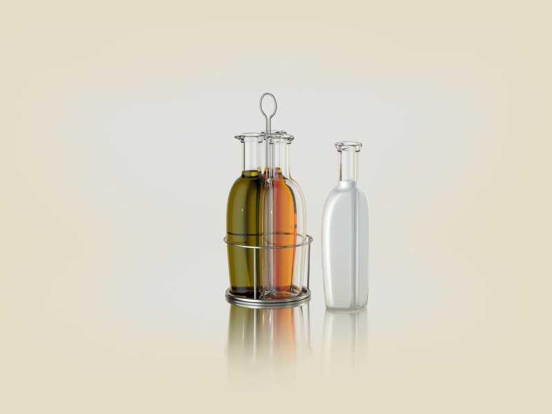 Triple-sauce - 3D model of a bottle for sauces