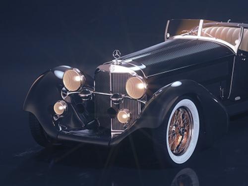 Mercedes-Benz Roadster 1930 3D visualization