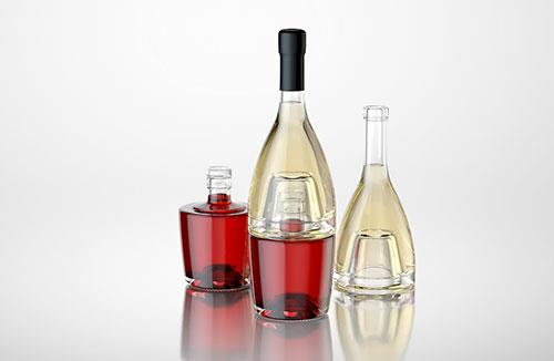 Jumeaux - 3D model of bottle for a wine or vinegar