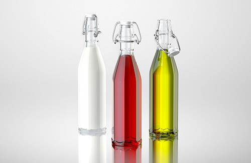 Maestro - packaging 3d model of a bottle for a wine, oil, milk or vinegar