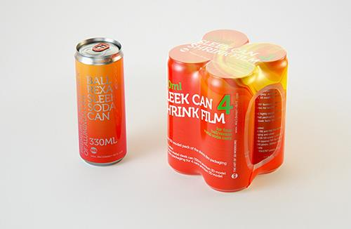 4 (four) Shrink Film pack with Sleek Can 330ml (WITHOUT WRINKLES) professional packaging 3D model pack