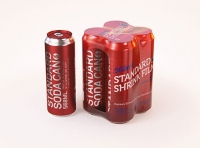 4x (four) Shrink Wrap packaging 3D model pack with Soda Can 568ml