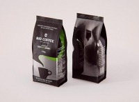Bio Coffee beans Bag 250g packaging 3d model
