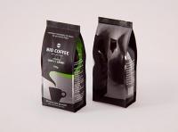 Bio Coffee beans Bag 250g packaging 3d model