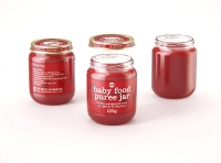Packaging 3D model of Baby Food Glass Jar 125g