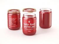 Baby Food Fruit Puree Glass Jar 3D model 190g