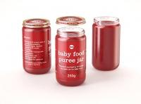 Baby Food Fruit Puree Glass Jar 3D model 250g