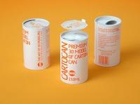 Packaging 3D model of carton can Cartocan 150ml