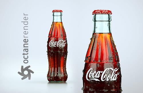 Free packaging 3D Model and Scene of Coca-Cola bottle (Octane Render)