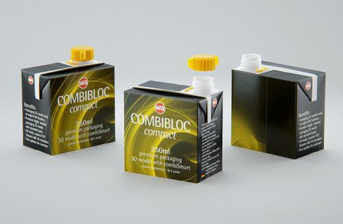 SIG combiBloc Compact 250ml with combiSmart closure packaging 3D model