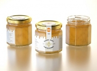 Flower Honey Edgy Glass Jar 120g packaging 3d model