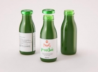 Green Smoothie/Juice Glass Bottle 250ml packaging 3D model pack