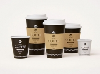 Group of Paper Coffee-To-Go Cups 3D model pack (4oz, 6oz, 12oz, 16oz, 20oz)