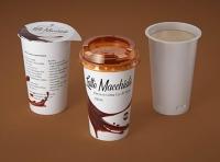Latte Macchiato Coffee Cup 250ml packaging 3D model