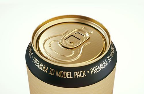 Metal Standard Beer/Soda Can 568ml 3D model