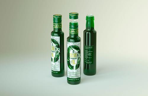 Packaging 3d model of Olive Oil Round Glass Bottle 250ml