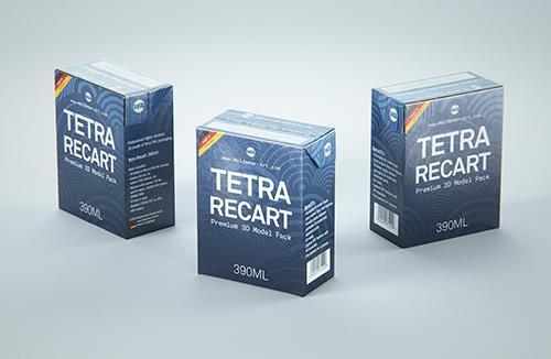 Tetra Pack Recart 390ml Premium carton packaging 3D model pak