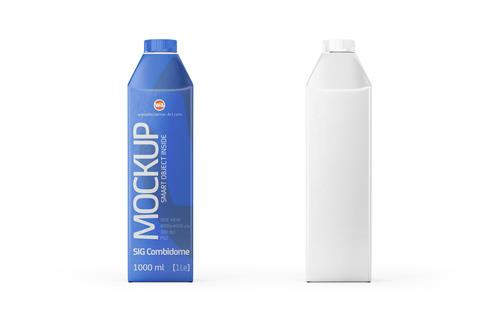 SIG Combidome 1000ml packaging Mock-up - Side view