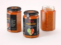 Spicy Vegetables Glass Jar 300g packaging 3D model