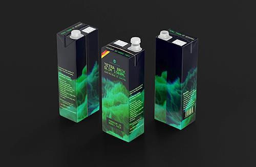 Tetra Pack Brick Slim 1500ml with HeliCap 23 Premium package 3D model pak