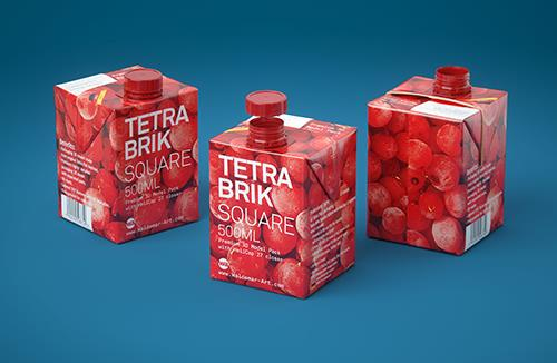 Tetra Pak Brik Square 500ml with HeliCap 27 3D model
