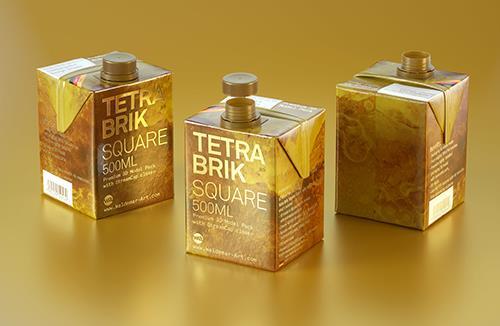 Tetra Pack Brick Square 500ml with StreamCap Premium 3D model pak