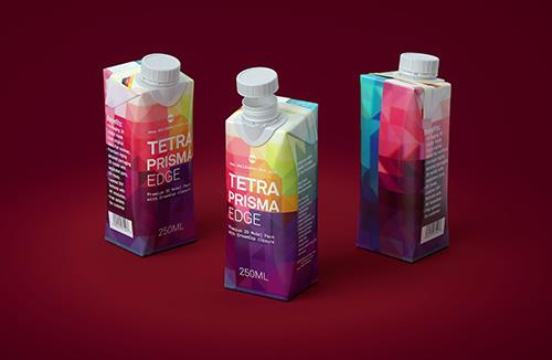 Tetra Prisma EDGE 250ml Premium carton packaging 3D model