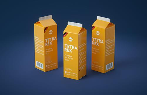 Tetra Pack REX 1000ml Professional carton packaging 3D model pak