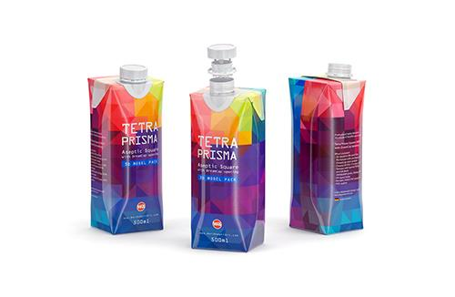 Tetra Pack Prisma Square 500ml with DreamCap packaging 3d model pak