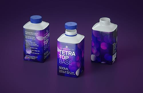 Premium 3d model pak of the Tetra Pack Top Base 500ml with Eifel O38 closer