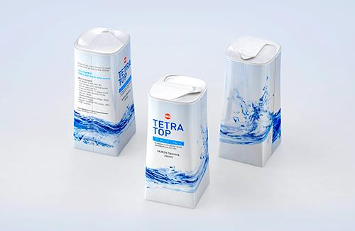 Packaging 3D model of Tetra Pak Top Midi 330ml with Huron